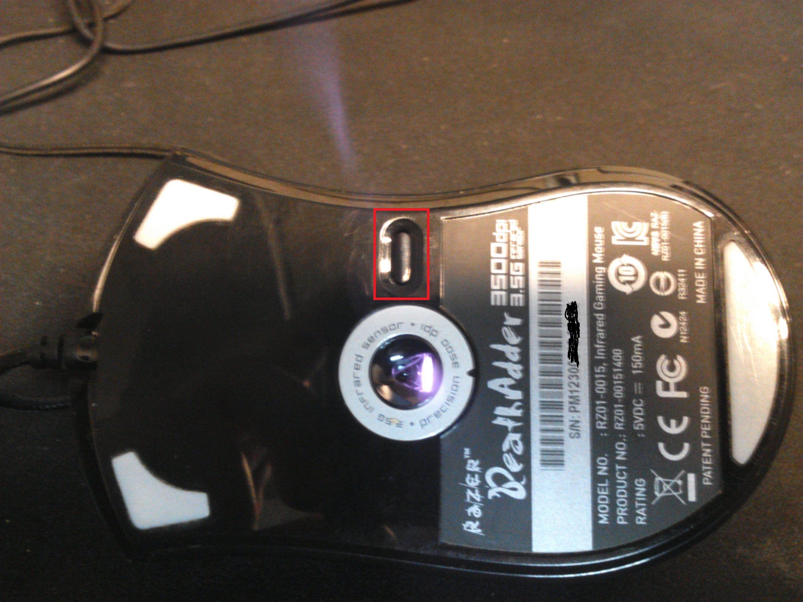 So the Deathadder 2013 can't change the DPI on the fly