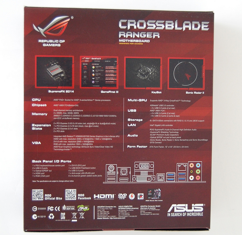 Official] Asus Crossblade Ranger (FM2+) - review and the