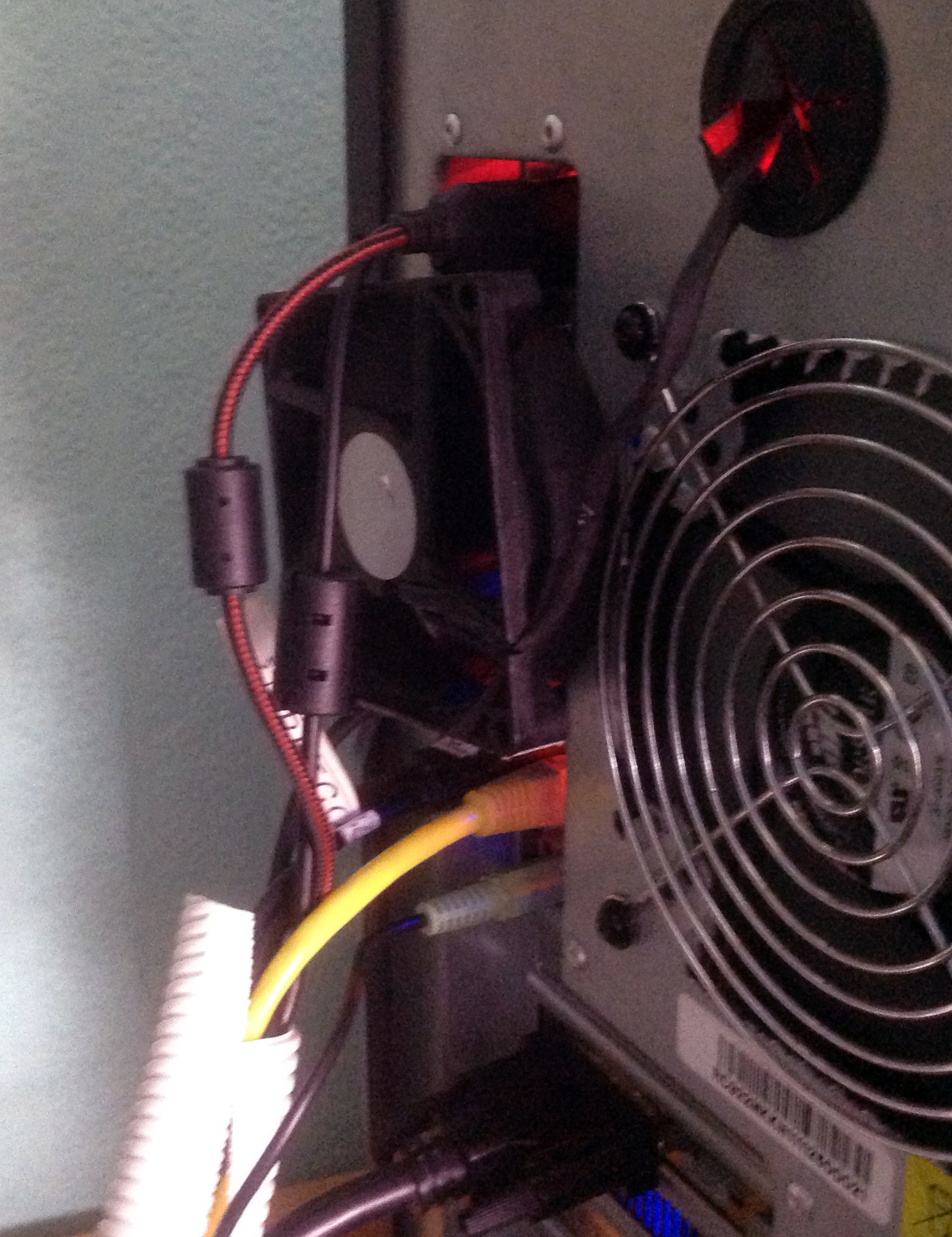 rear fan with cables in place
