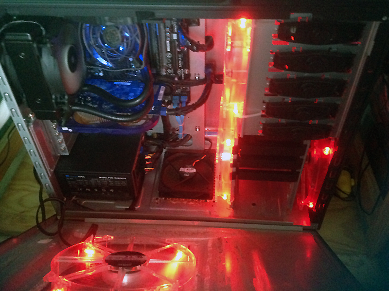 Haf 922 with 5 Coolermaster 200mm fans fitted!