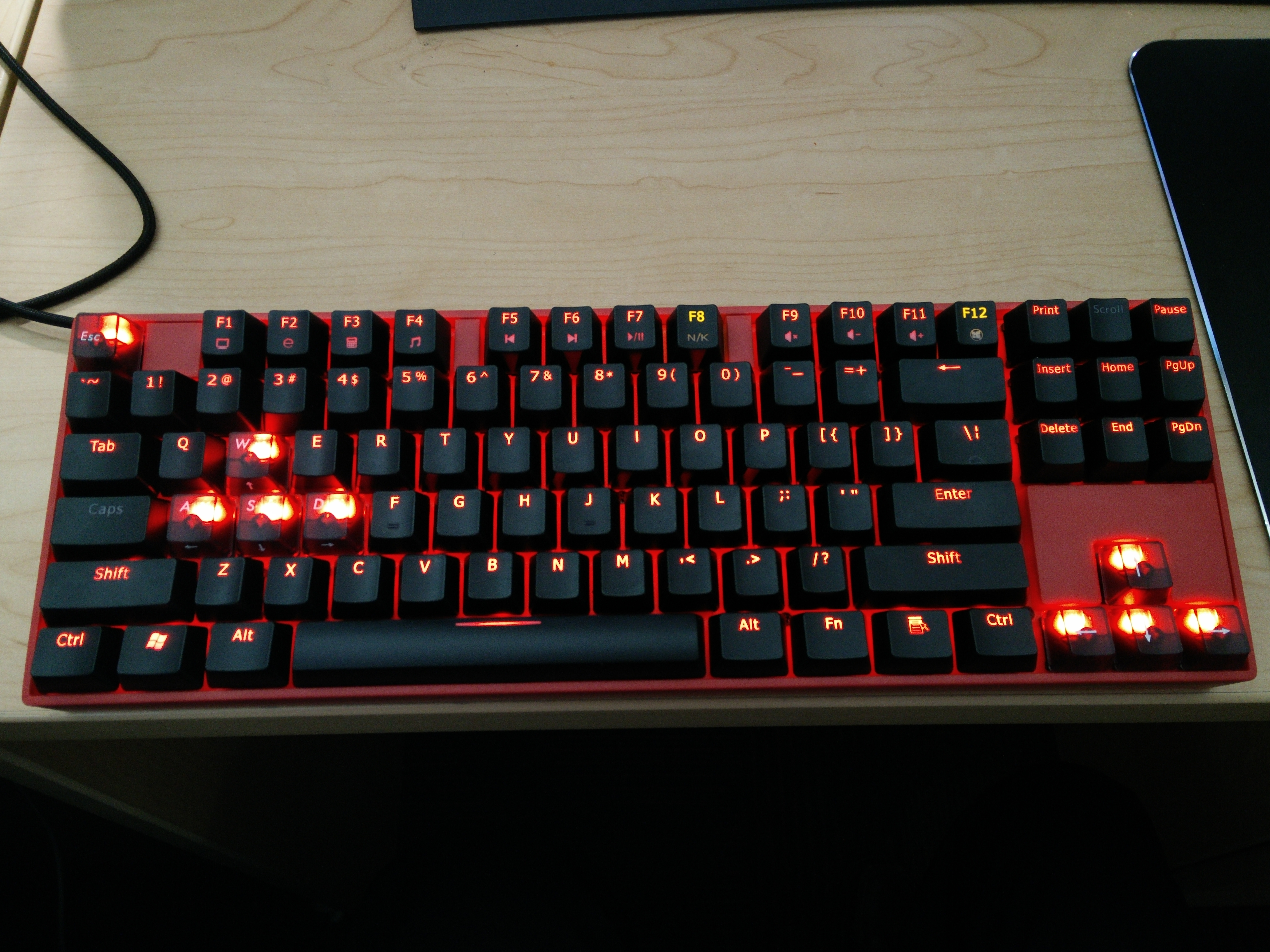 "Noppoo ""Lolita"" Red Backlight Edition w/ Noppoo's Custom MX Black Keys"