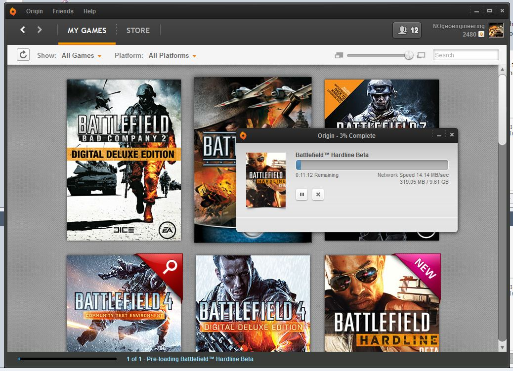 BF Hardline Beta Download Speed
