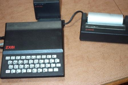 Zx81 with ram pack and thermal paper printer.