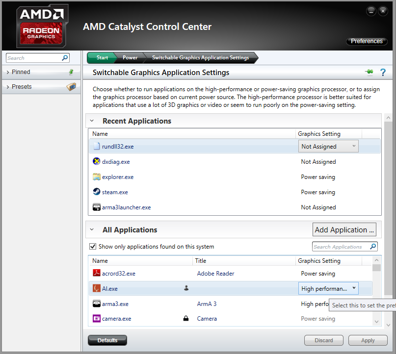 Image Result For How To Configure Amd Switchable Graphics In Radeon