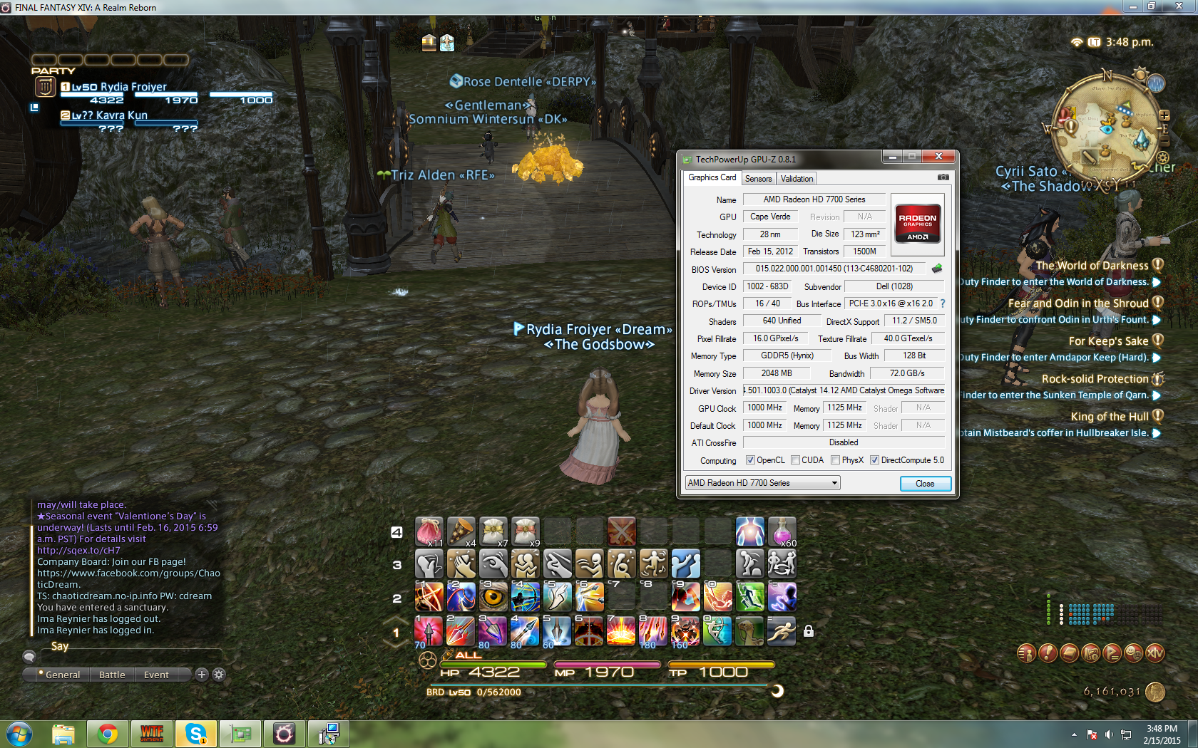 Serious FPS drops in games  Specifically FFXIV  Unsure what