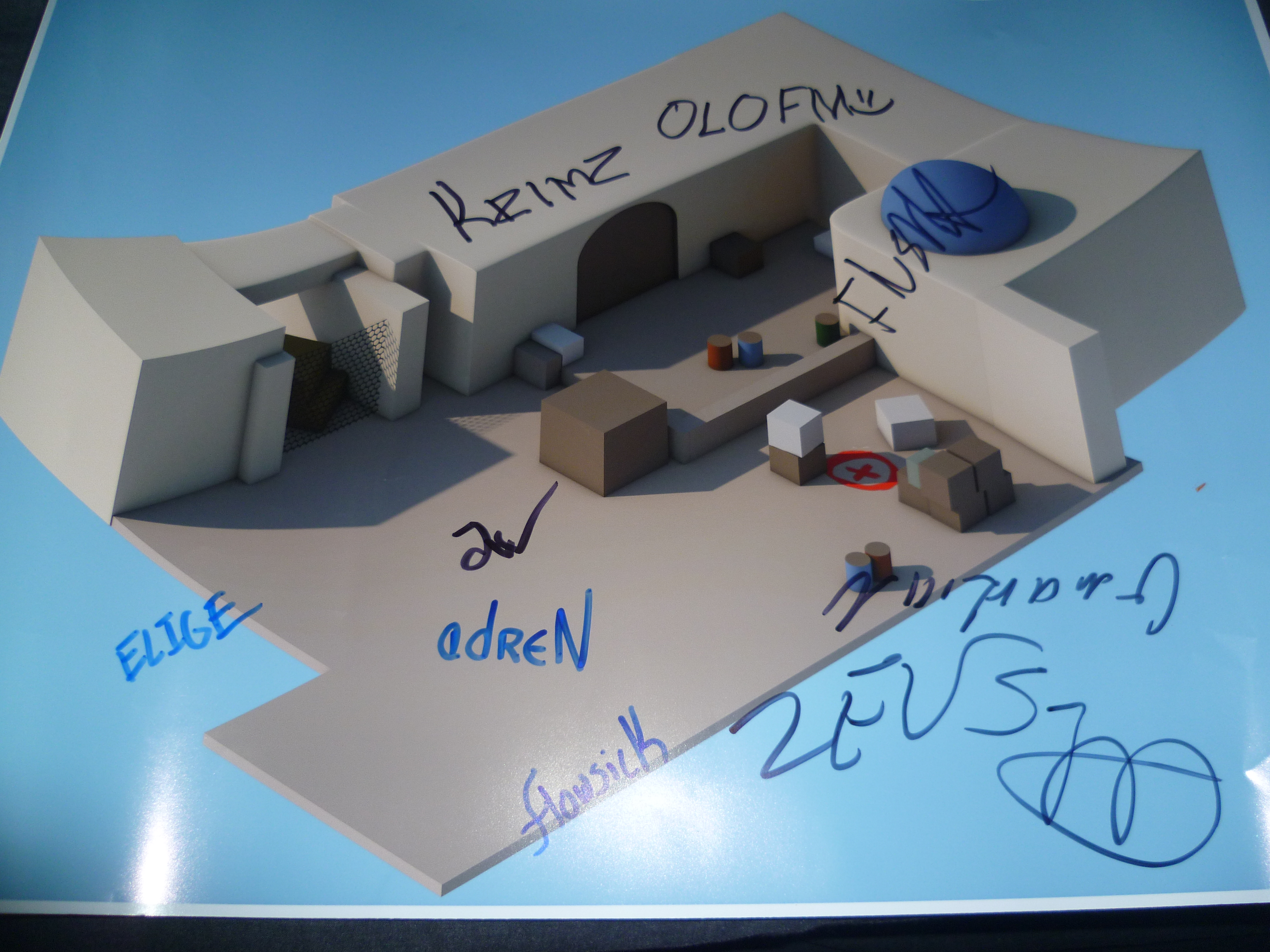 Signed Dust 2 B site poster!