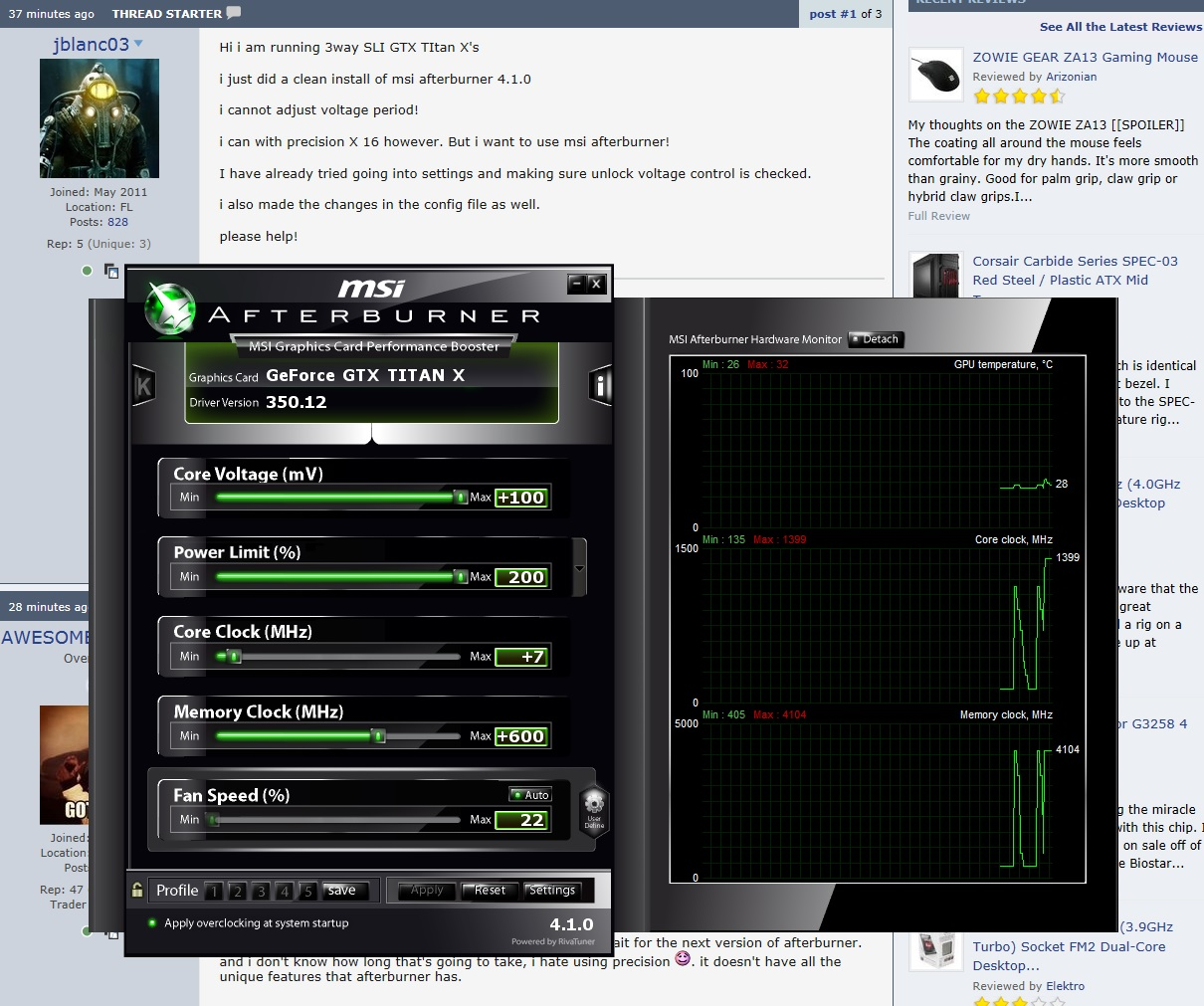 msi afterburner 4 1 0 cant unlock voltage !! - Overclock net
