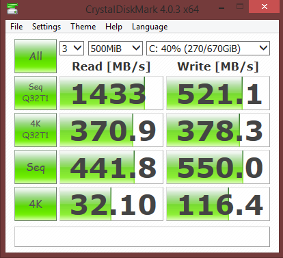 Dead serious, this is what I get for my performance on my 3x SSD RAID Array. Insane.