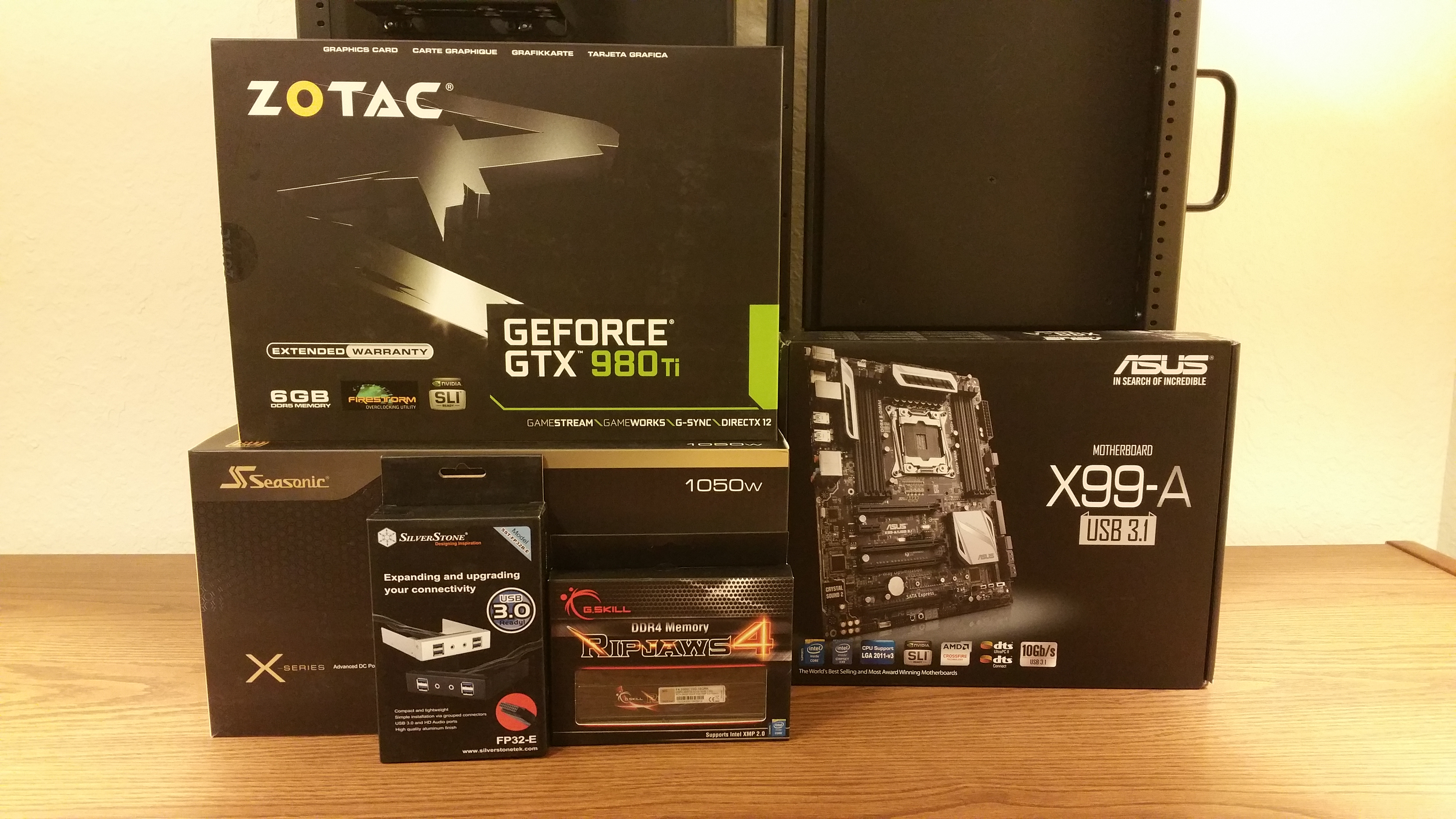 Core components, but I forgot the CPU box in the picture.