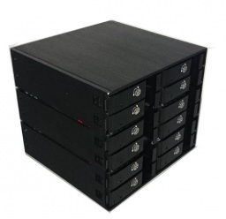 Have you ever seen 12 bays internal 2.5 inch hdd/ssd enclosure for normal ATX case ?
