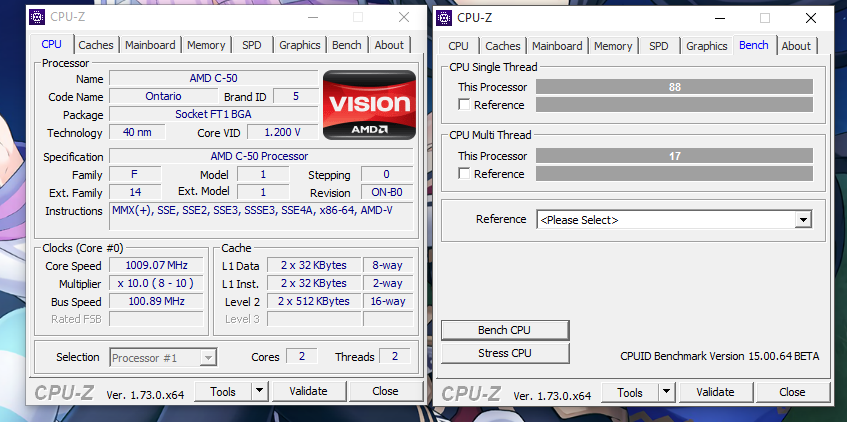 CPUID] New CPU-Z 1 73! - Page 12 - Overclock net - An