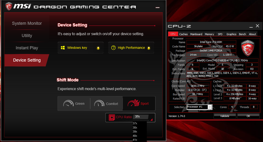 MSI GT72S Dominator Pro GTX980 and the extreme performance of OC