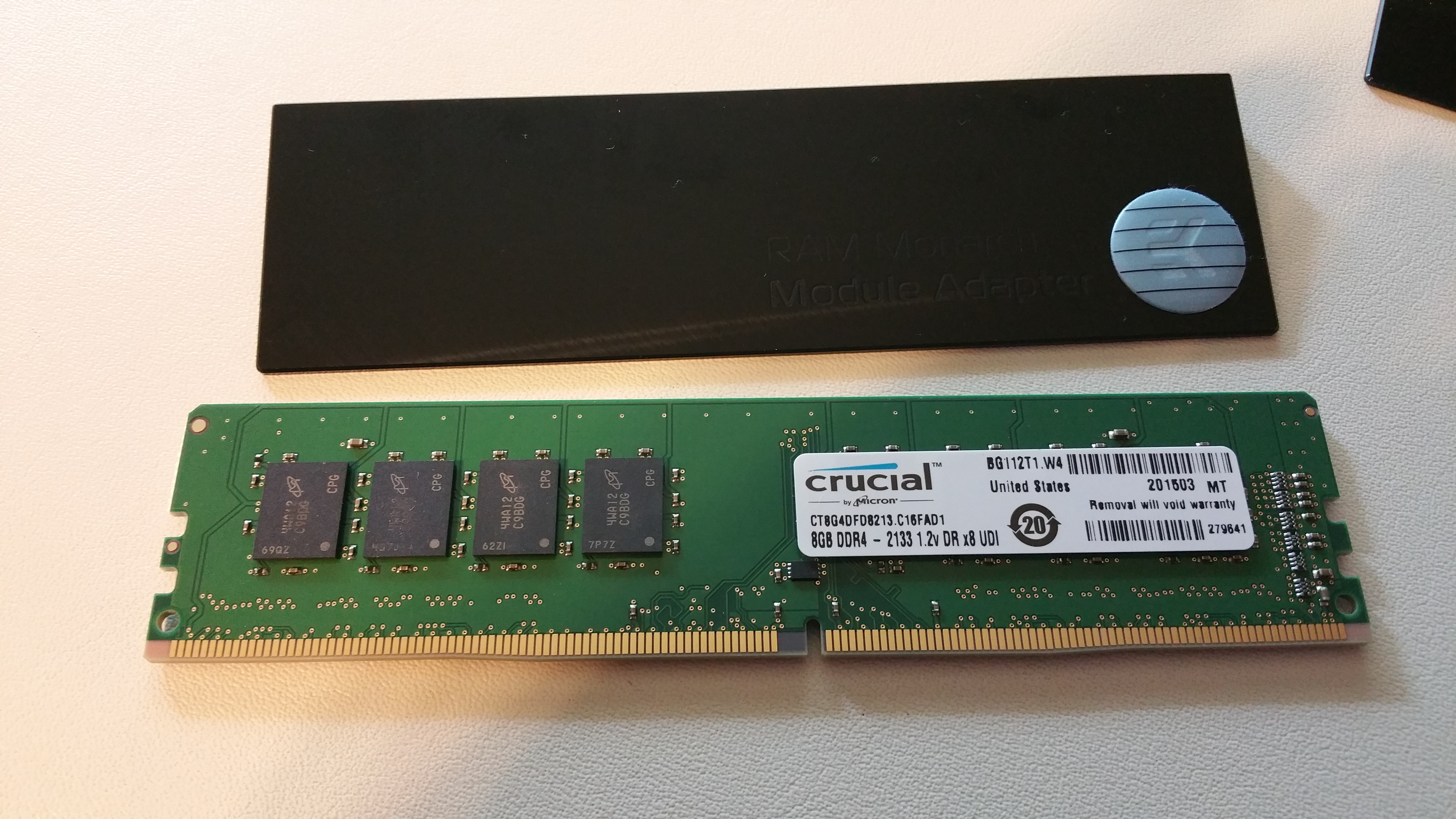 Basic DDR4 RAM - this 1866 Crucial stuff can do 2400, no need for more atm.