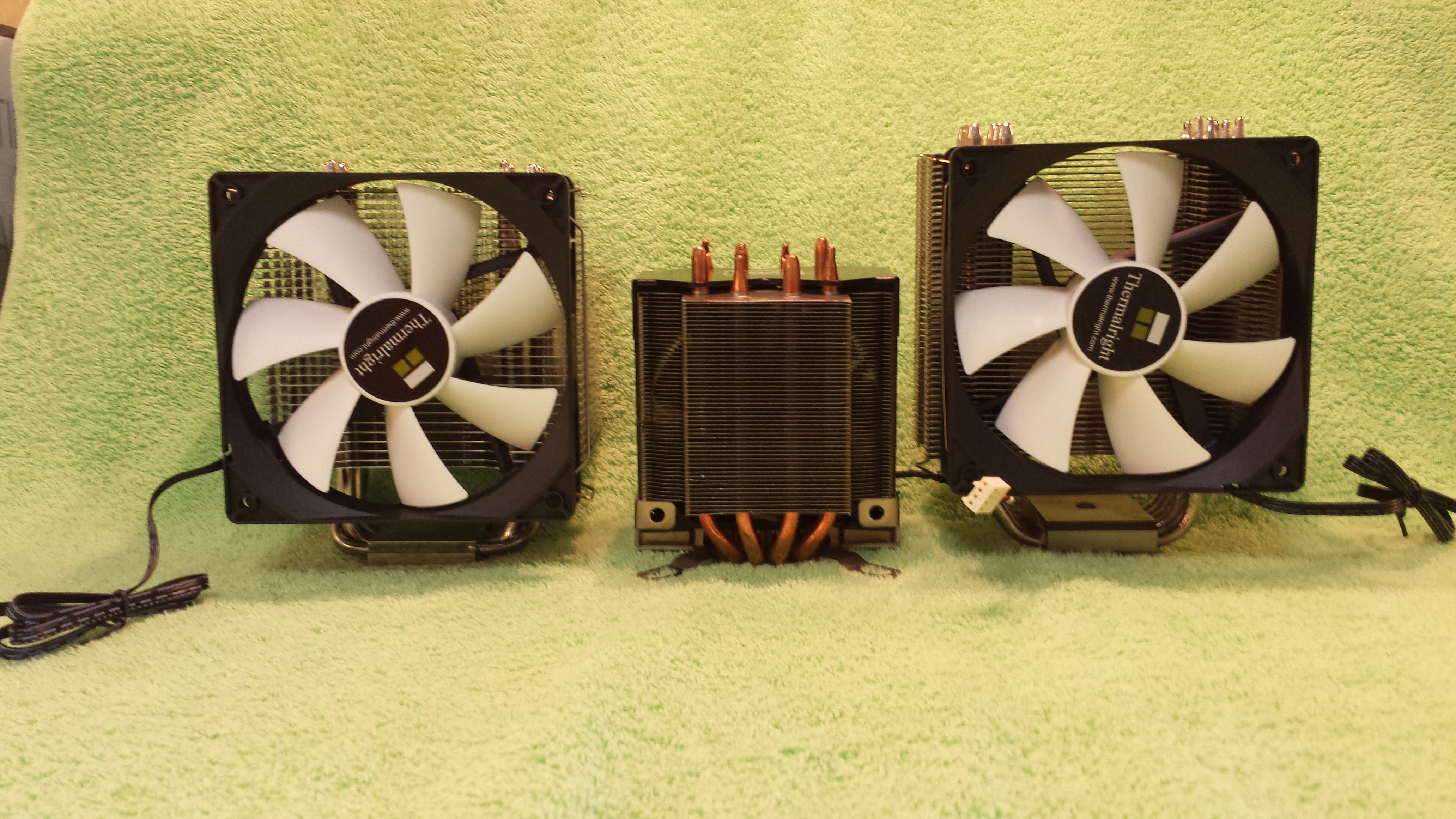 Macho120, Dell, Venomous all with fans installed. Low mounted fan will cool VRMs on Dell.