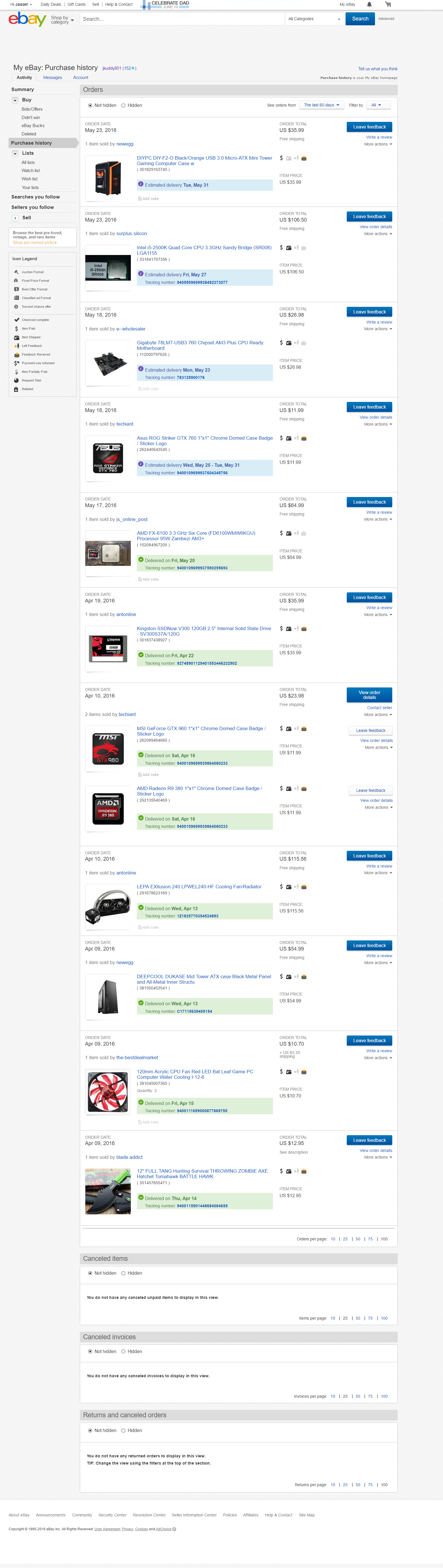 Just some Deals people may find interesting or curious to know about. Also Just an easy way to keep track of my Business Purchases/Inventory+Marketing for people to see to hand pick out what they want for any given build they may have in mind too.