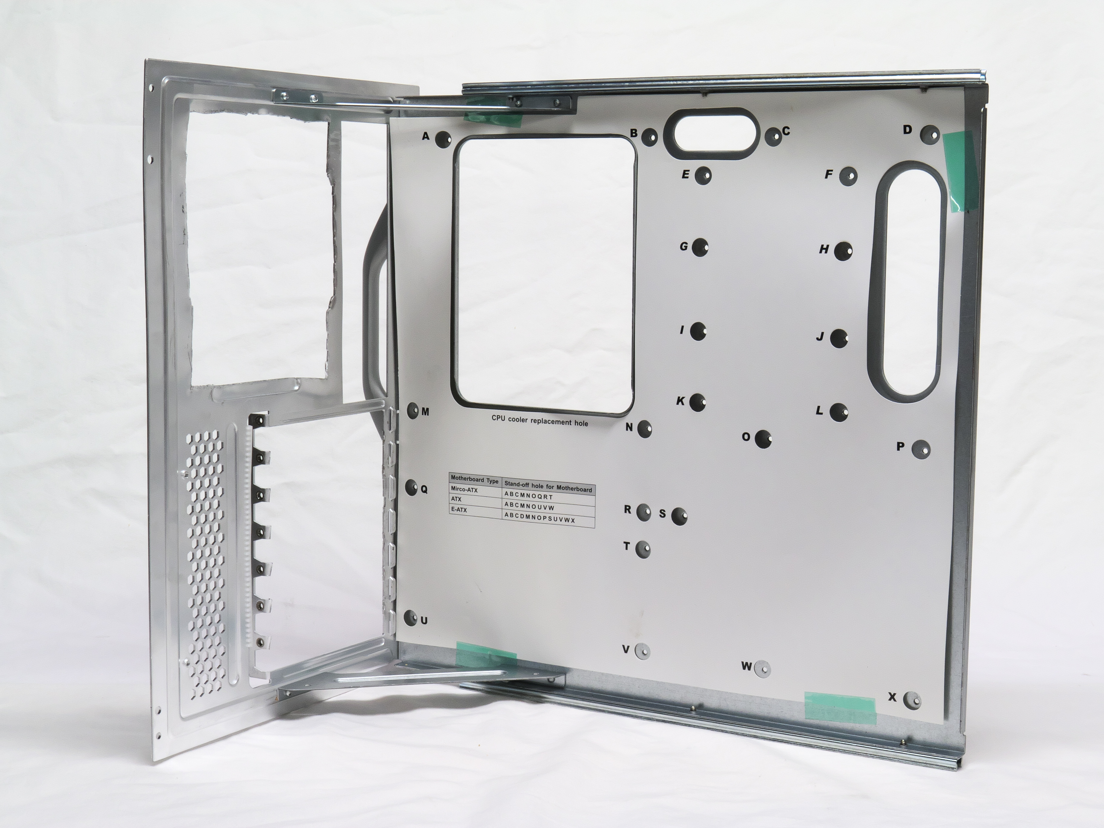 ATCS motherboard tray, used for testbed