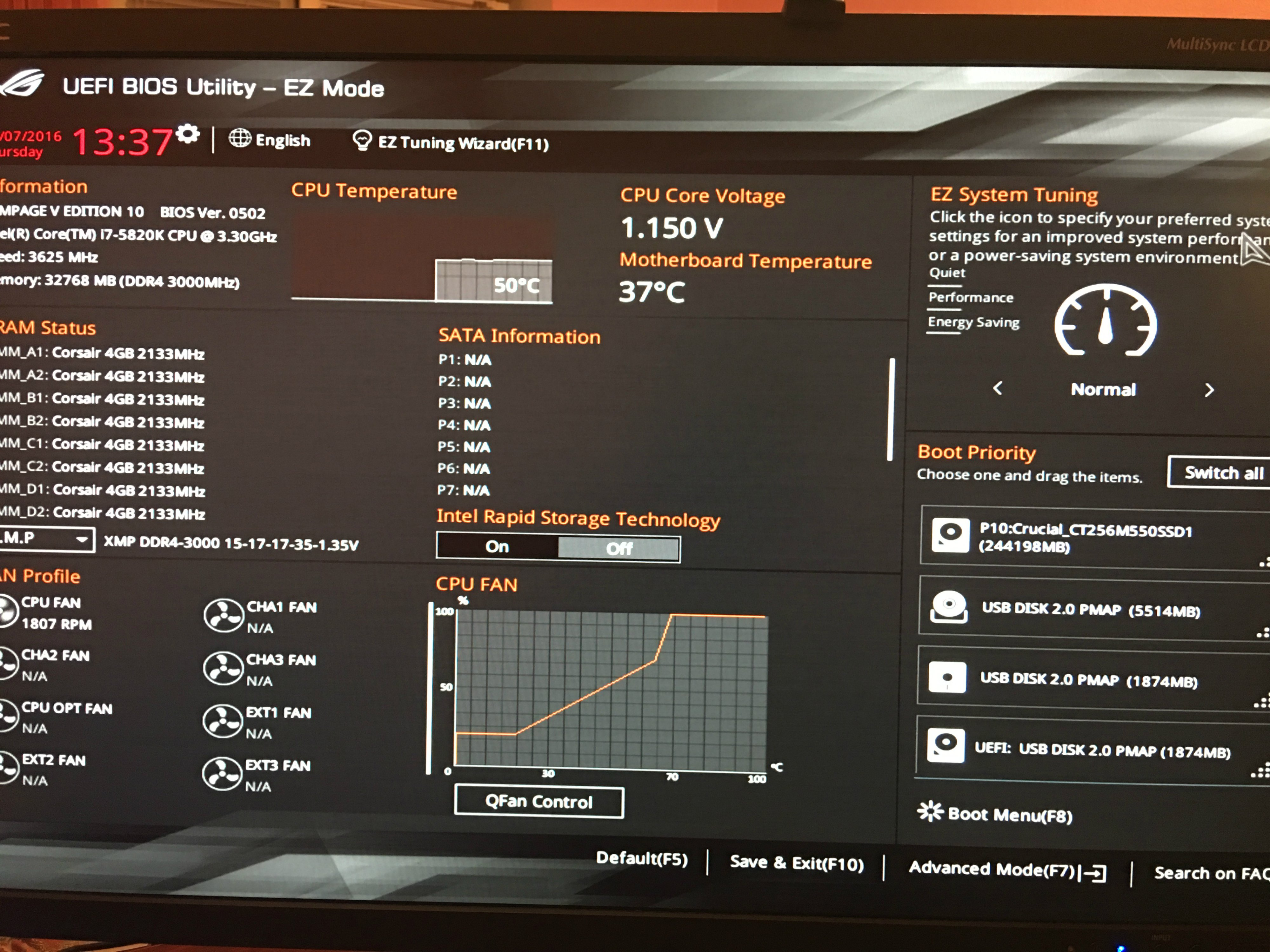 PCPER] ROG ASUS RAMPAGE V Edition 10 - Page 46 - Overclock net - An