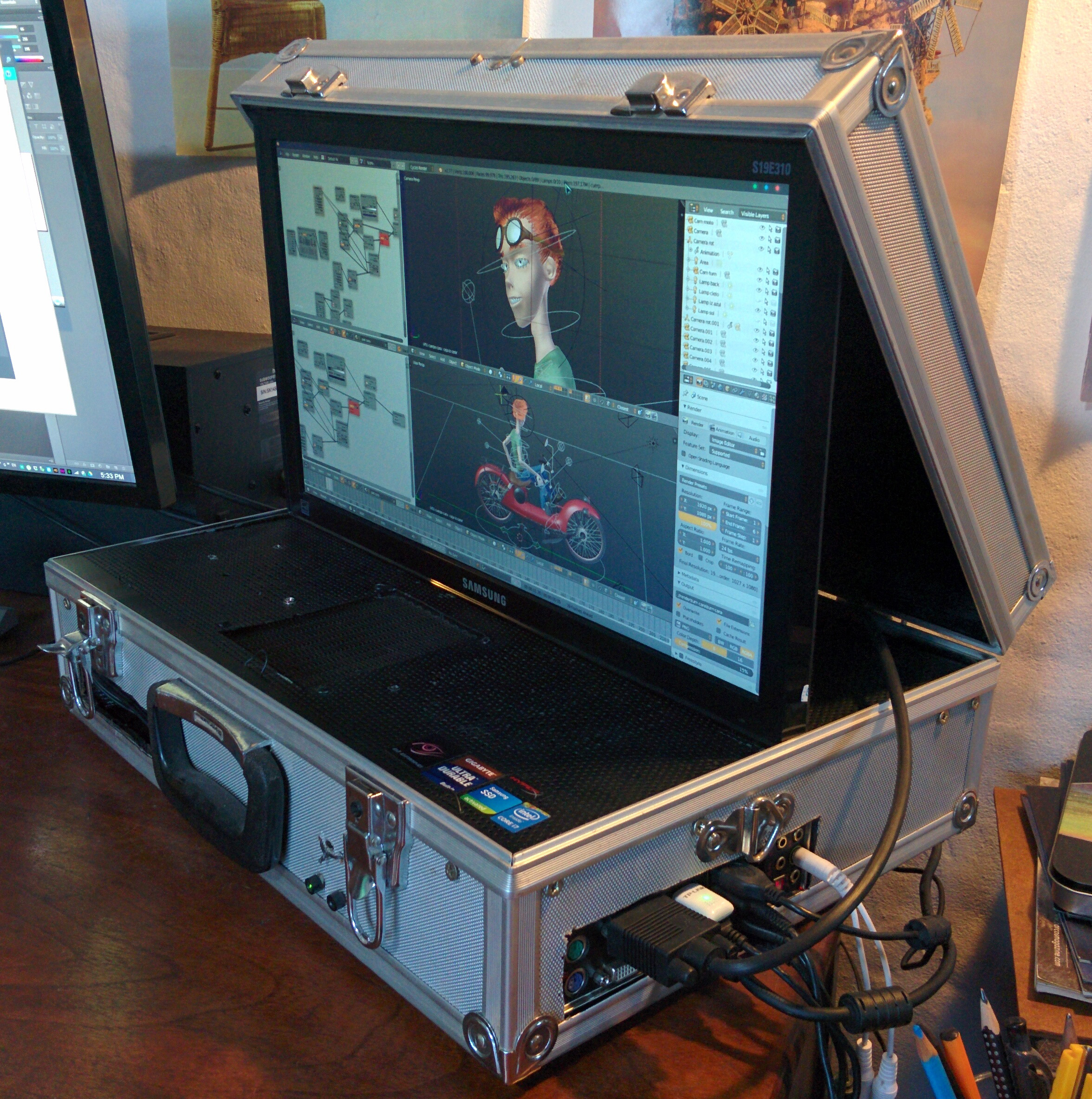 Saturn V - A 3D graphics, VR and Gaming Briefcase PC mod - Overclock