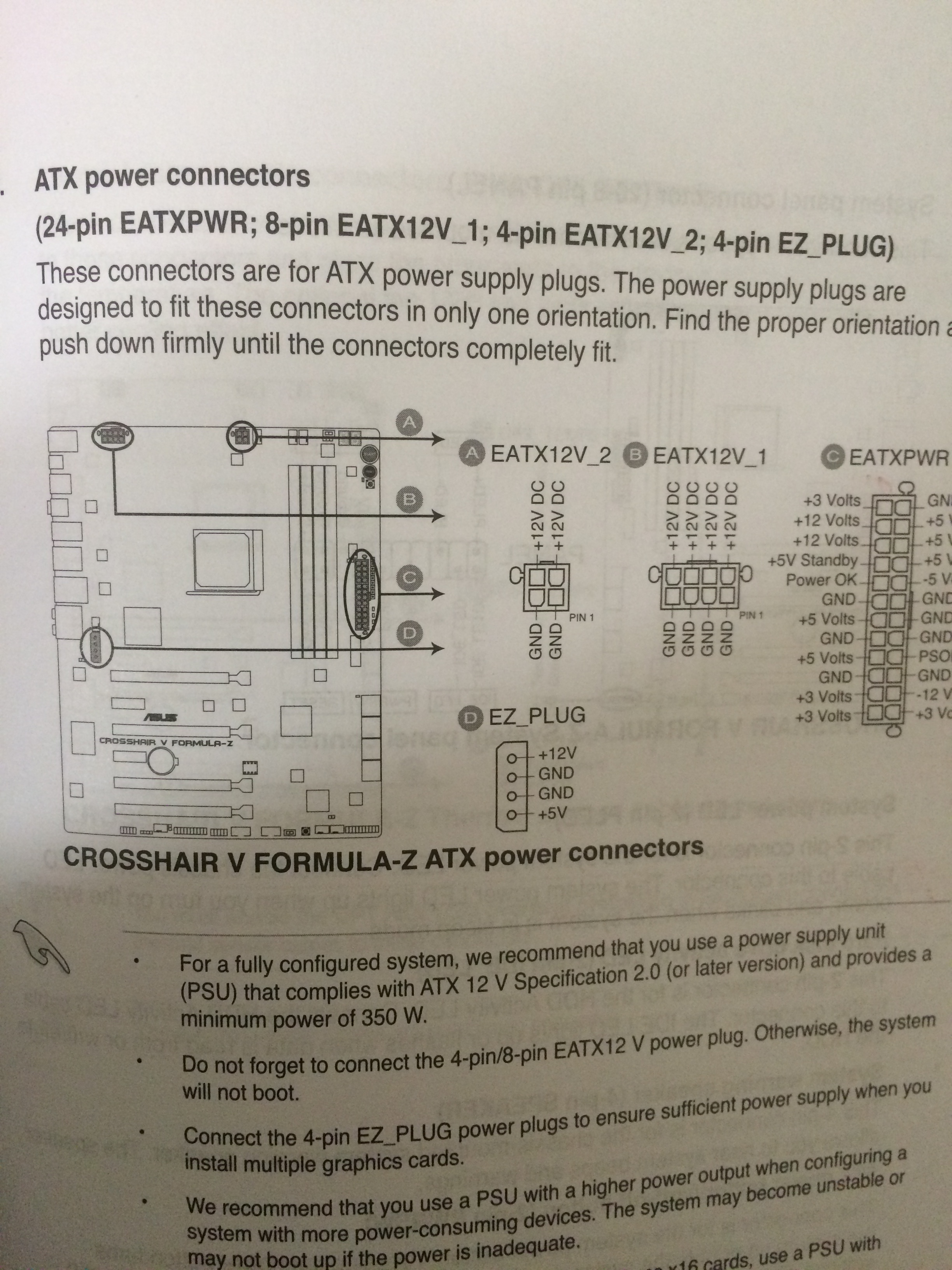 Do I have to use the 4 pin AND 8 pin ATX power connector from PSU to ...