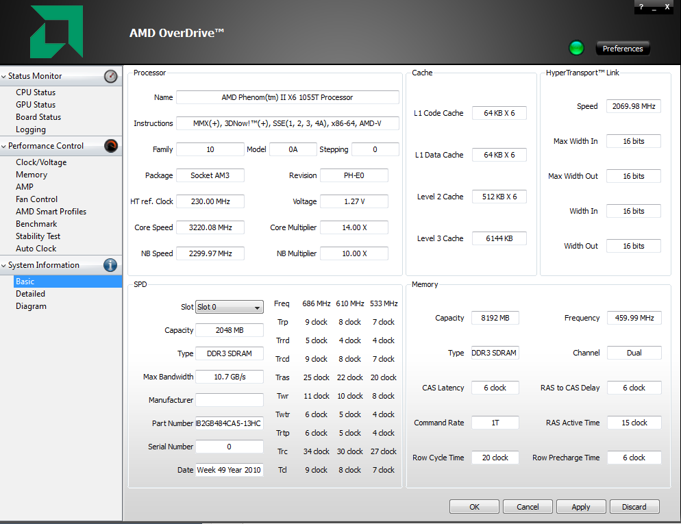 Overclocked with AMD Overdrive - Overclock net - An