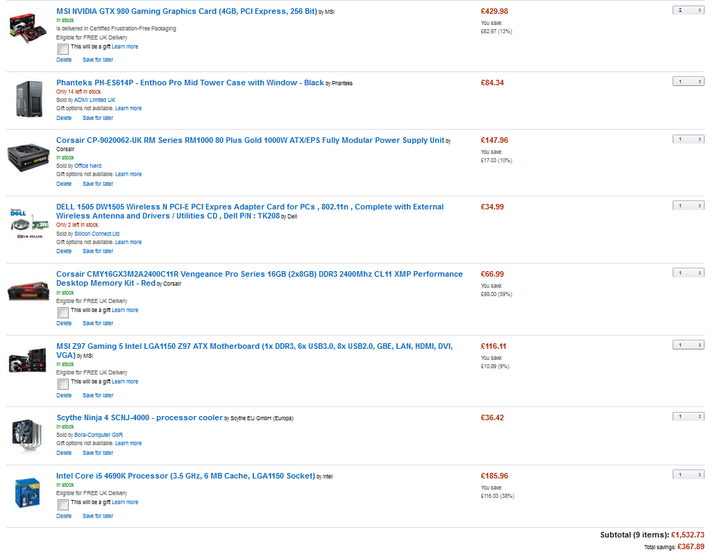 I would like to build a really good gaming PC for around £1500.