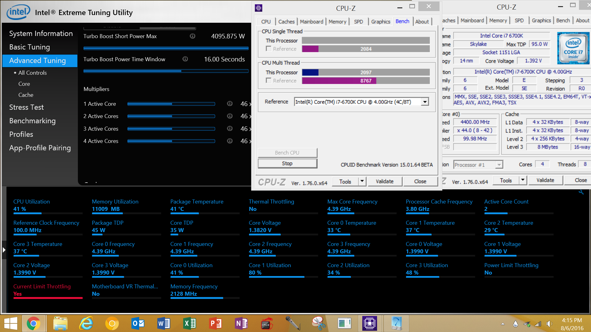 Current Limit Throttling when under load (but temps are ok) i7 6700k