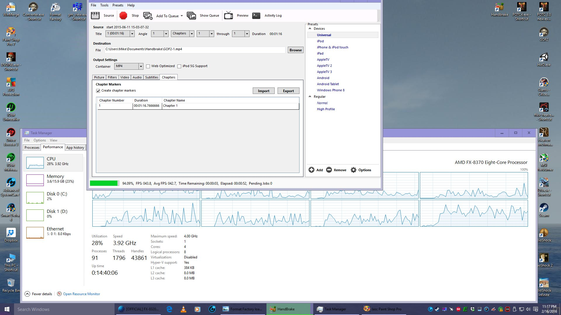Obs Studio And Fx 8 Cores An Overclocking Community Prosesor Amd 8370e Ampquotvisheraampquot Then There Is The Intel Gimp Which Still Present Despite All Claims To Contrary Handbrake Before After Icc Patcher