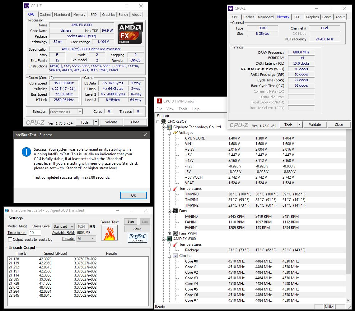 FX-8300 and GA-990FX-Gaming Results, So Far     - Overclock net - An