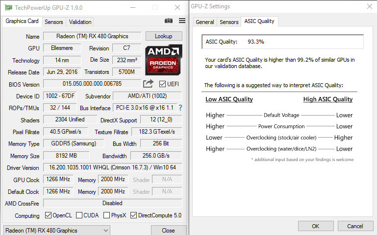 RX 480 - Overclocking / Undervolting Advice Needed