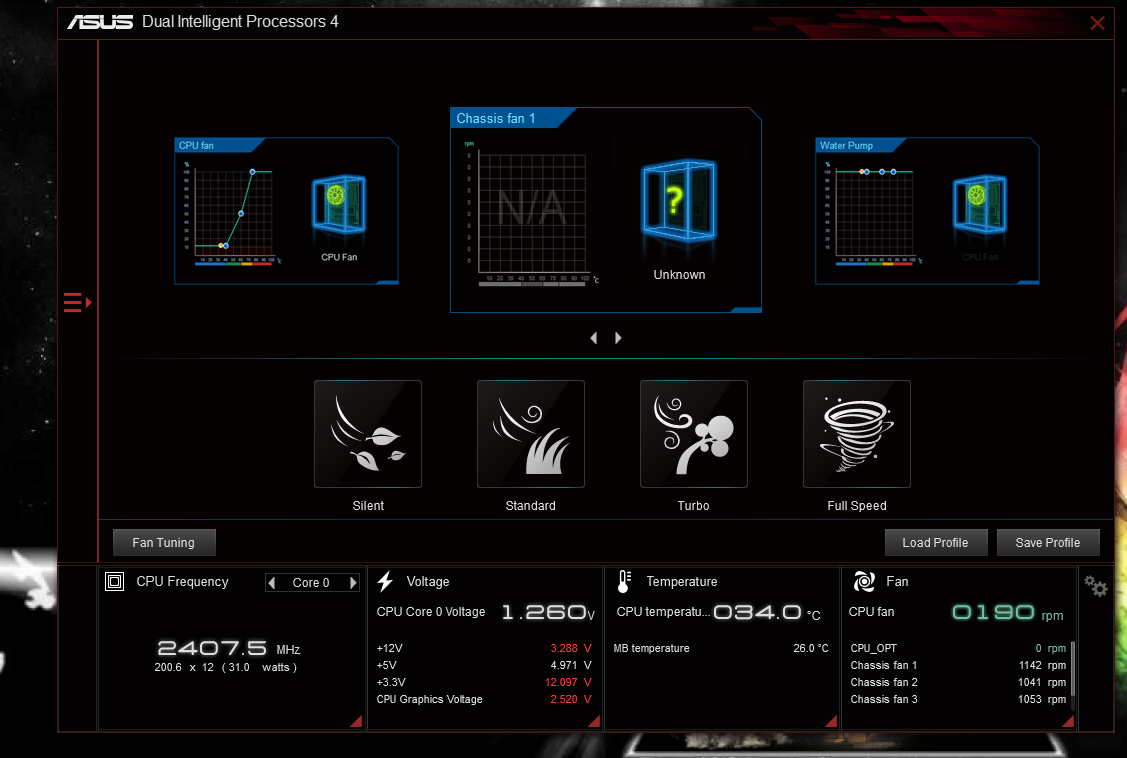 Crappy fan software on a asus pro 970 gaming/aura