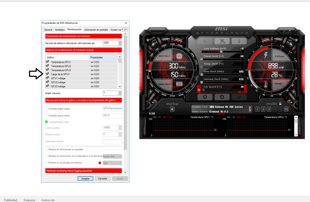 No Gpu2 and GPU3 usage option in MSI afterburner - Overclock