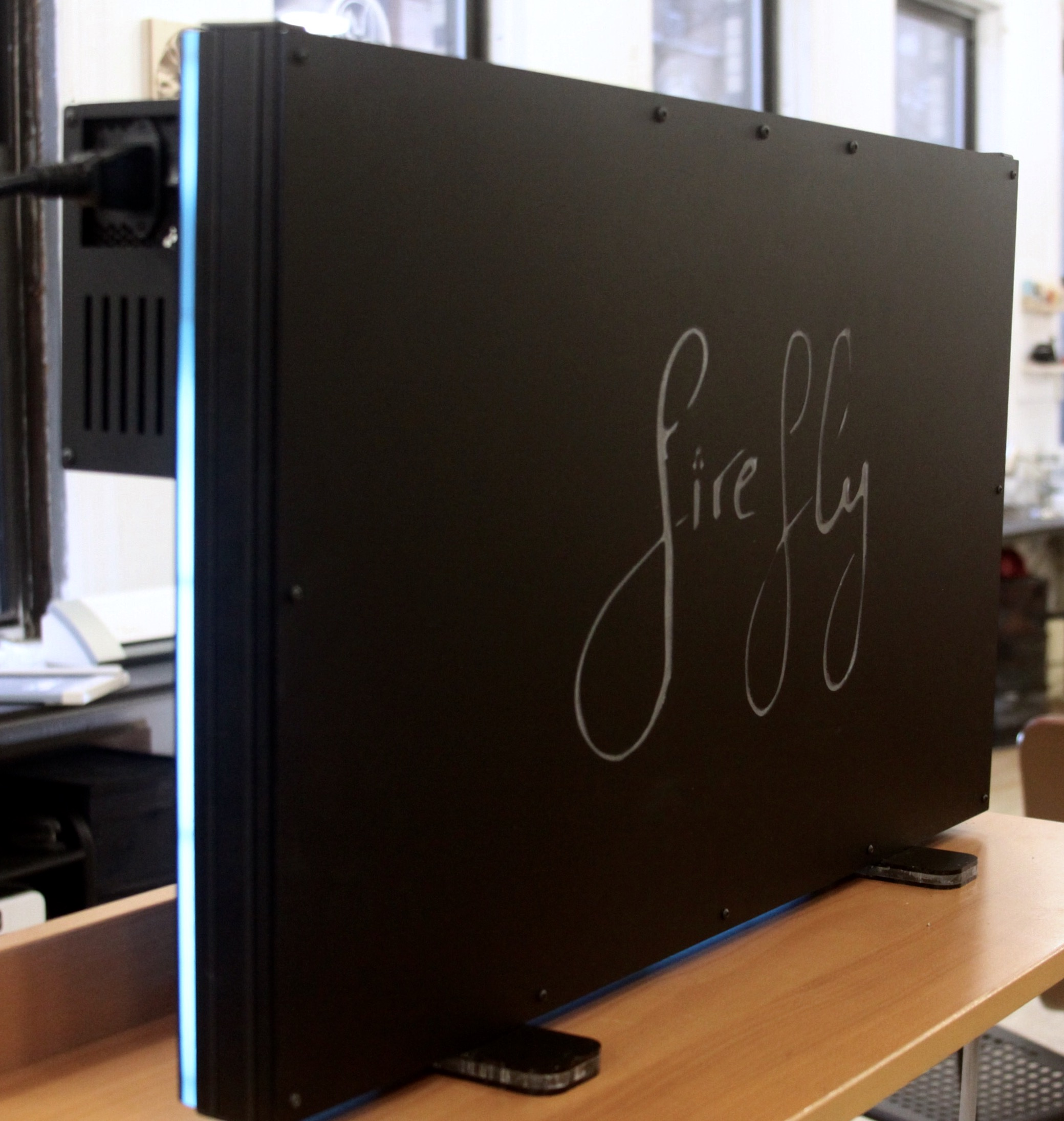 Wall-mounted PC Build with modular custom case -FireFly