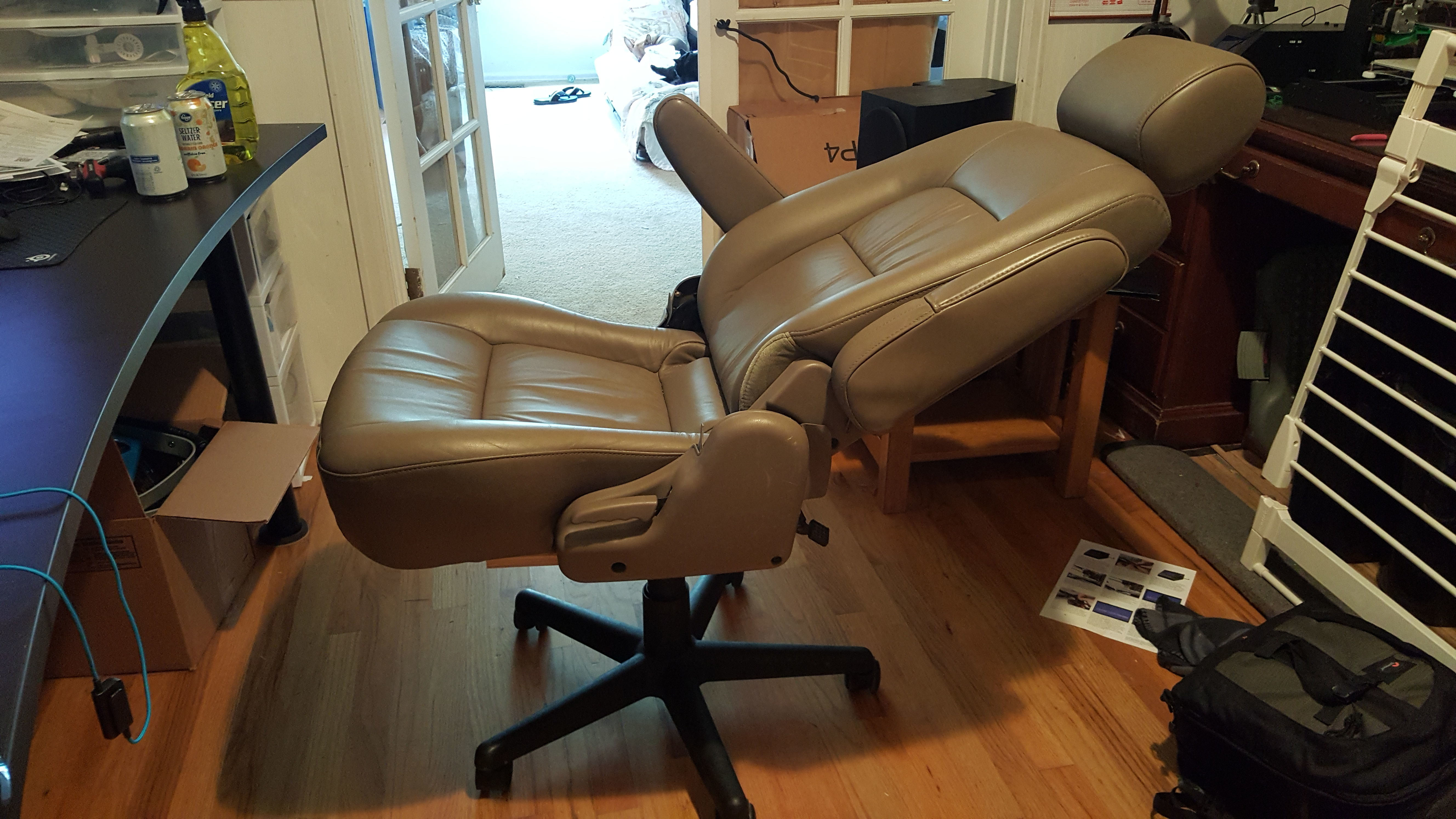 Old Office Chair i made a gaming chair out of an old worn out office chair base and