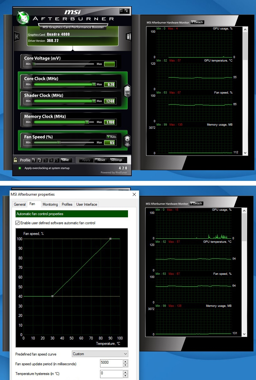 nvidia quadro overclock software