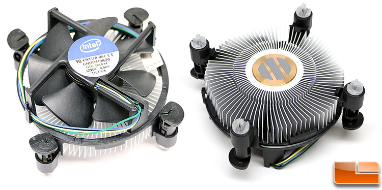 Difference in Intel stock cooler (heatsink and fan) between