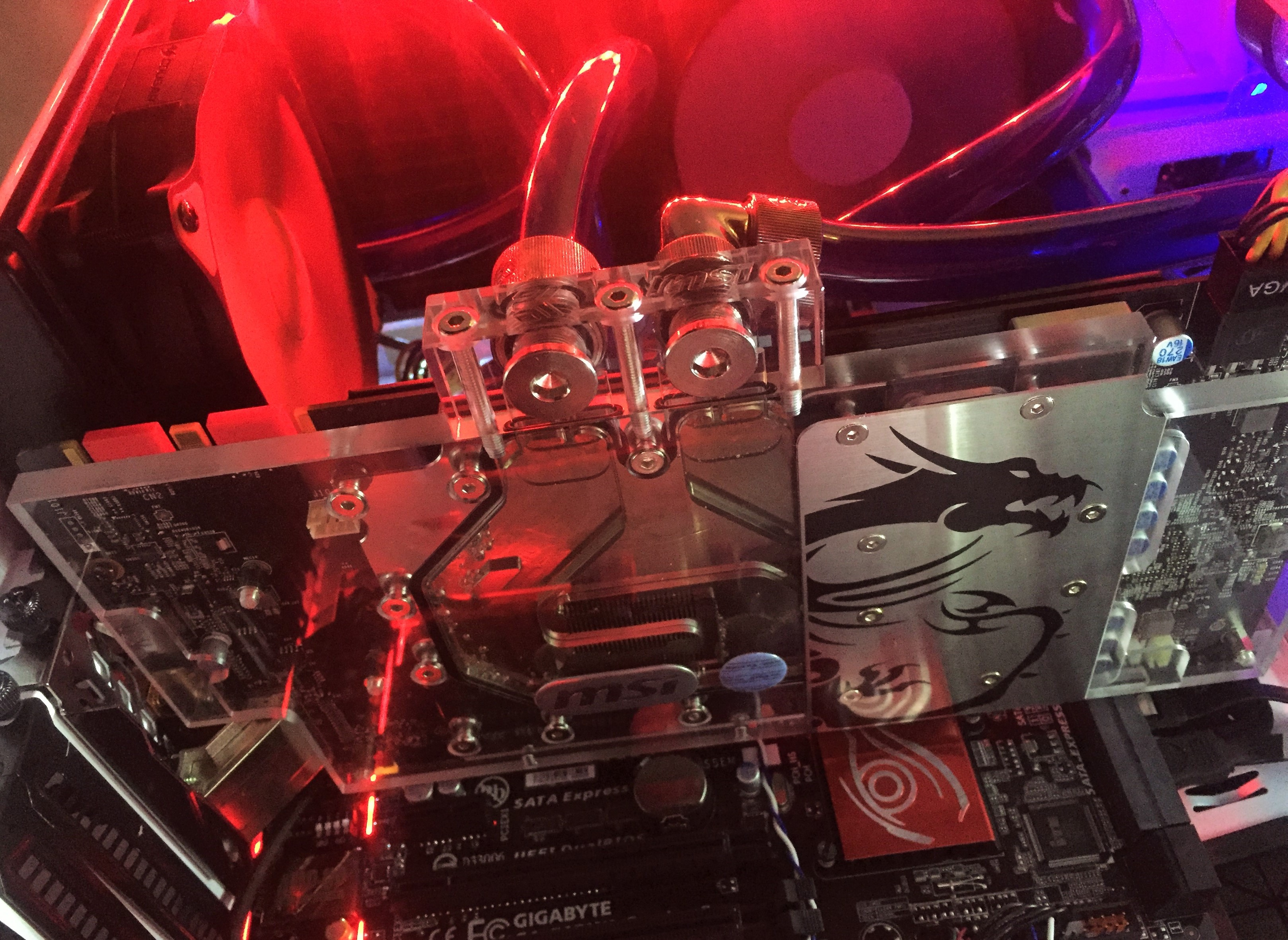 MSi left the plastic on the 1080 Seahawk EK X    - Overclock net