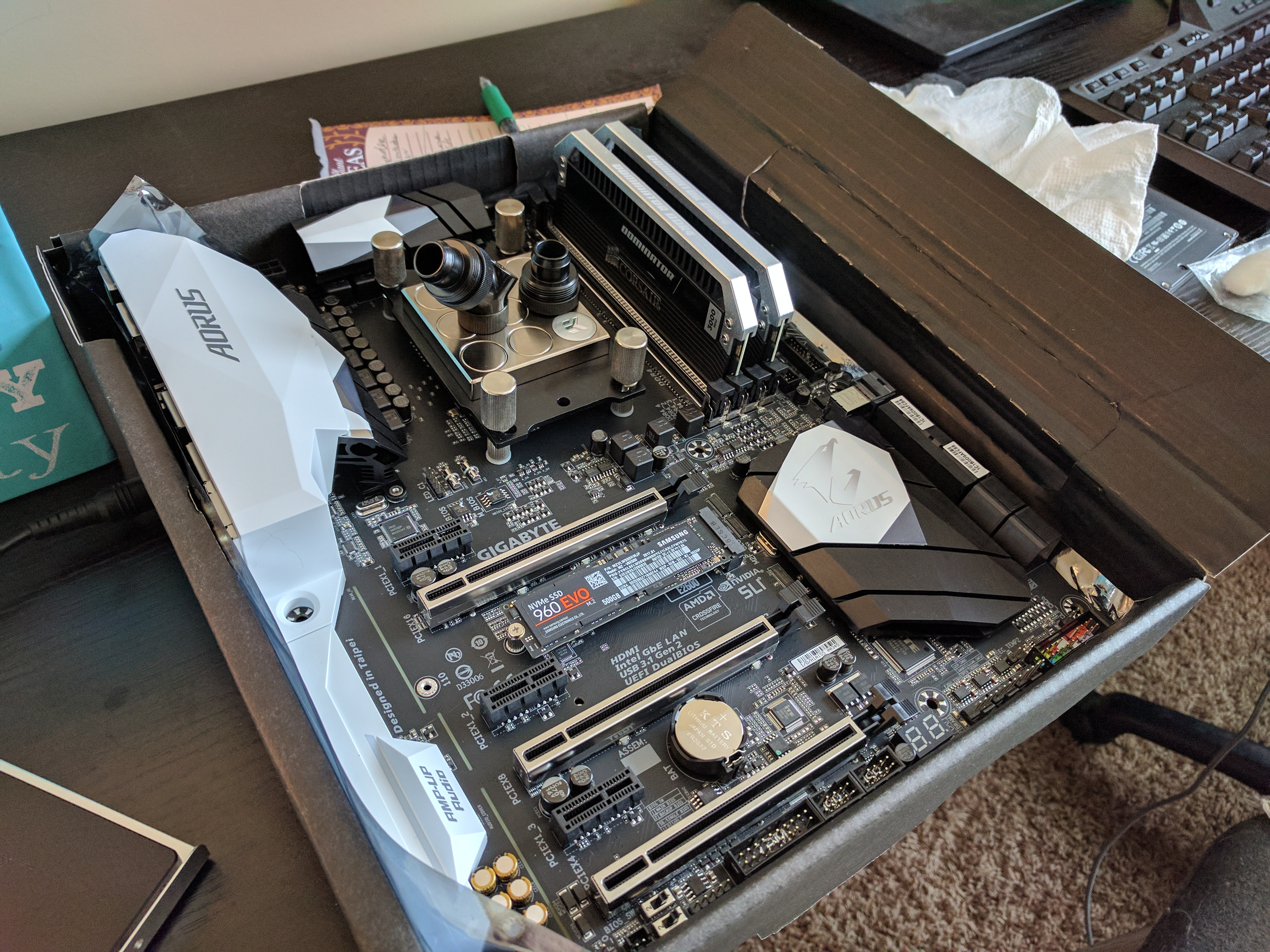 Ax370 Gaming 5 And Ek Supermacy Evo Page 2 An Gigabyte Ga Pitch Than The Stock Am4 Backplate I Suppose Could Have Purchased Mounting Kit With Different Bolts But So Far Everything Has Been Working