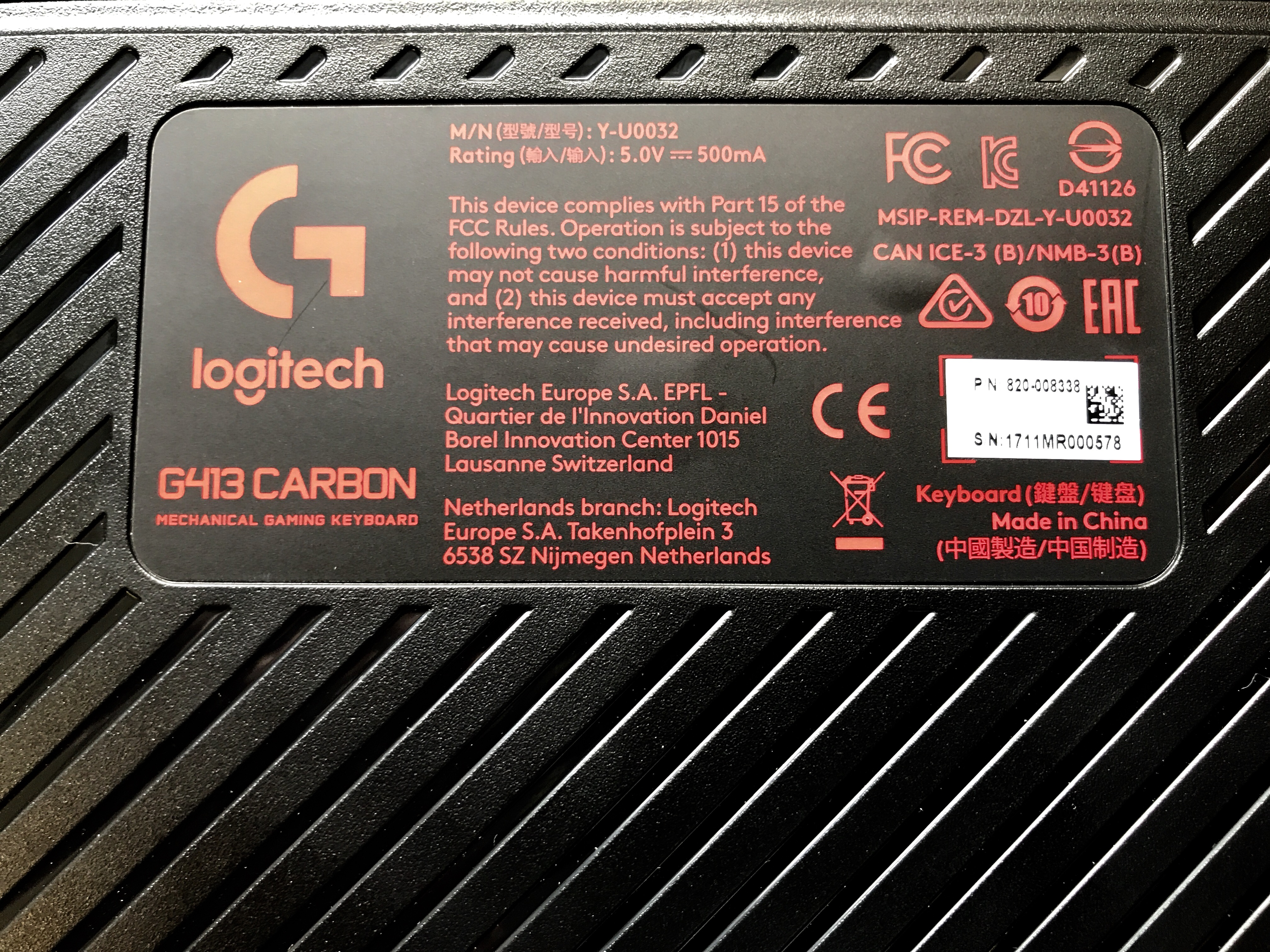 OCN Labs] Logitech G413 Mechanical Gaming Keyboard - Overclock net