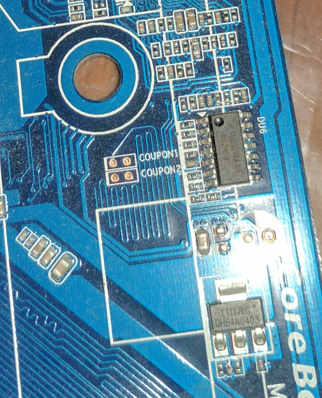 TIL: Gigabyte Coupon1 Coupon2 PCB pads are for impedance testing