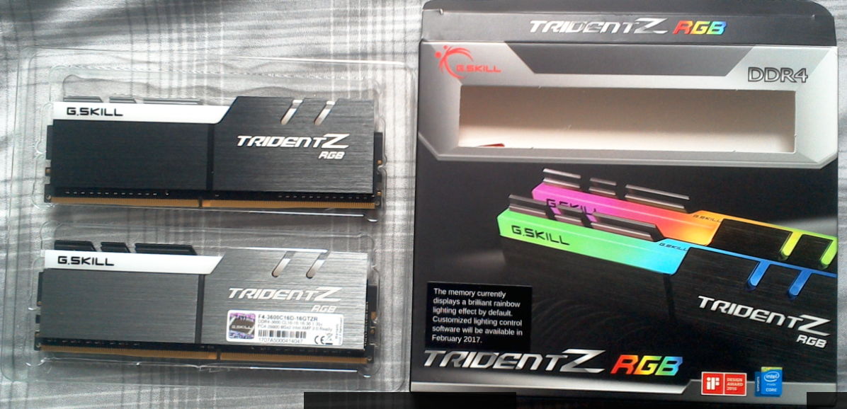 G SKILL DDR4 RGB Lighting with Trident Z Series Thread