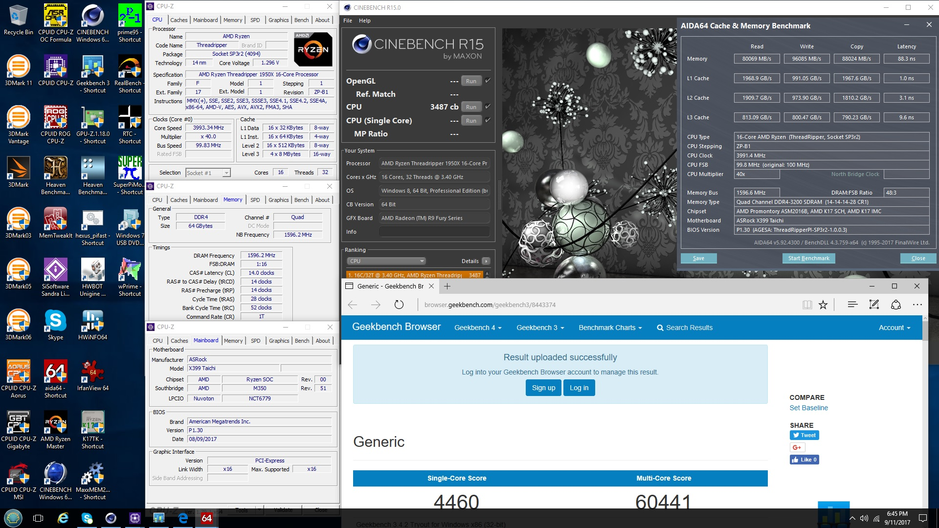 Asrock x399 Taichi/Fatality overclocking and unofficial