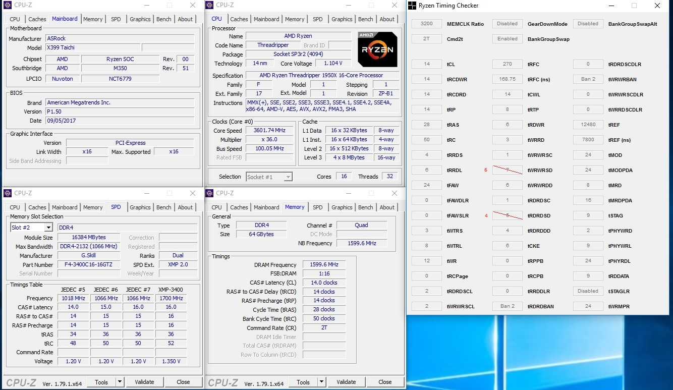 Asrock x399 Taichi/Fatality overclocking and unofficial support