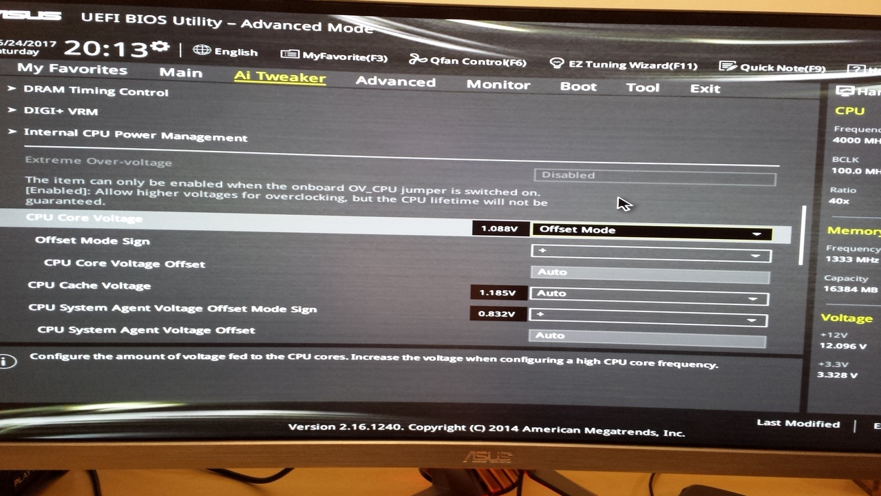 4790k Voltage Overriding That Of Set In Bios An We Want V B The At Base To Be 06 Higher Second Pic Shows Offset Mode Options If I Wanted Try And Run 1180v How Would Do So