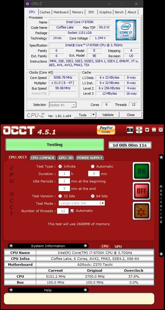 i7 8700k overclock results and settings - Page 54
