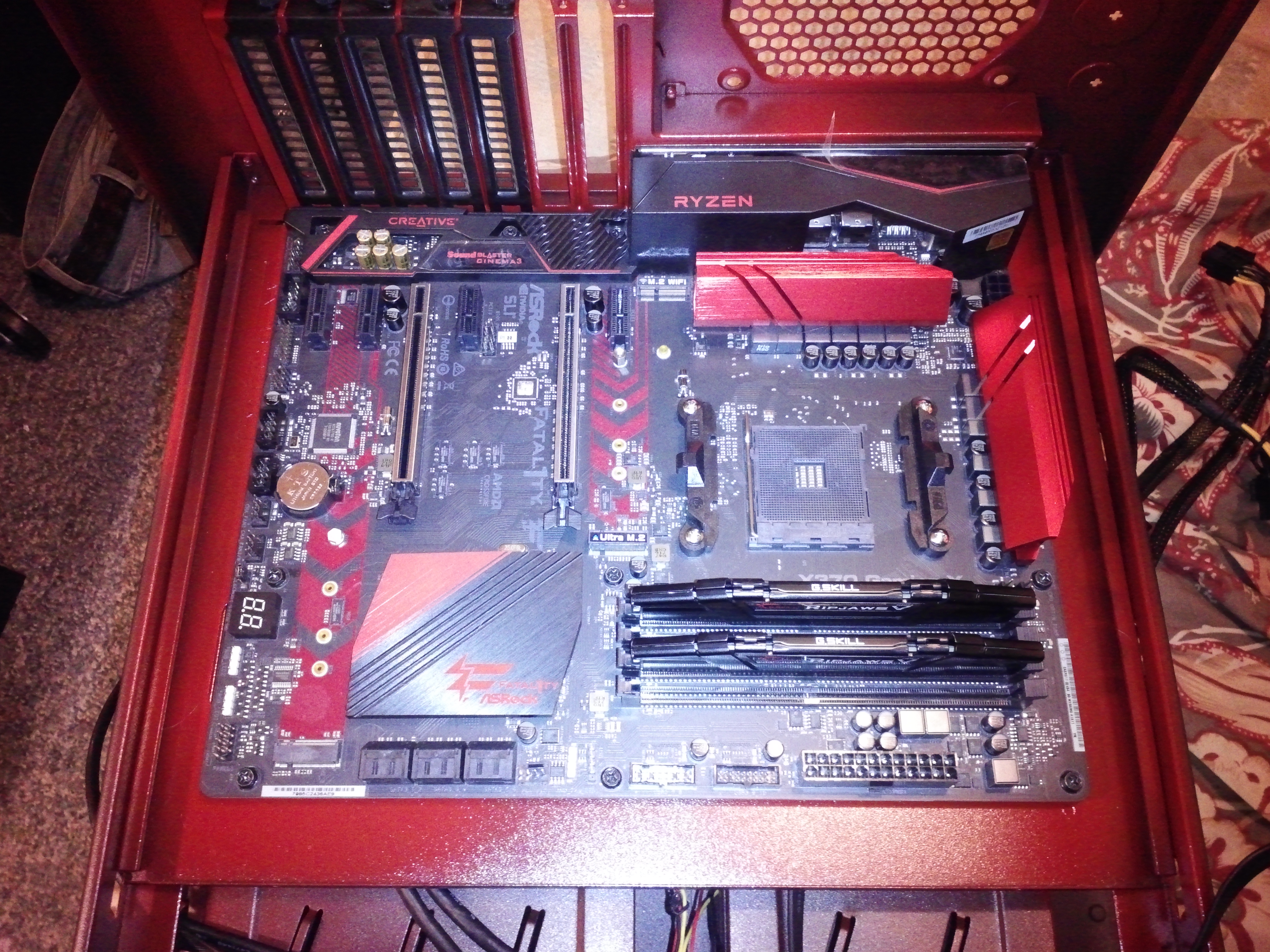 Fatal1ty X370 Gaming X, Ripjaws 5.