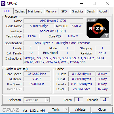 R7 1700 OC can't be set over 3 55 GHz (HP Omen, Higos Mobo