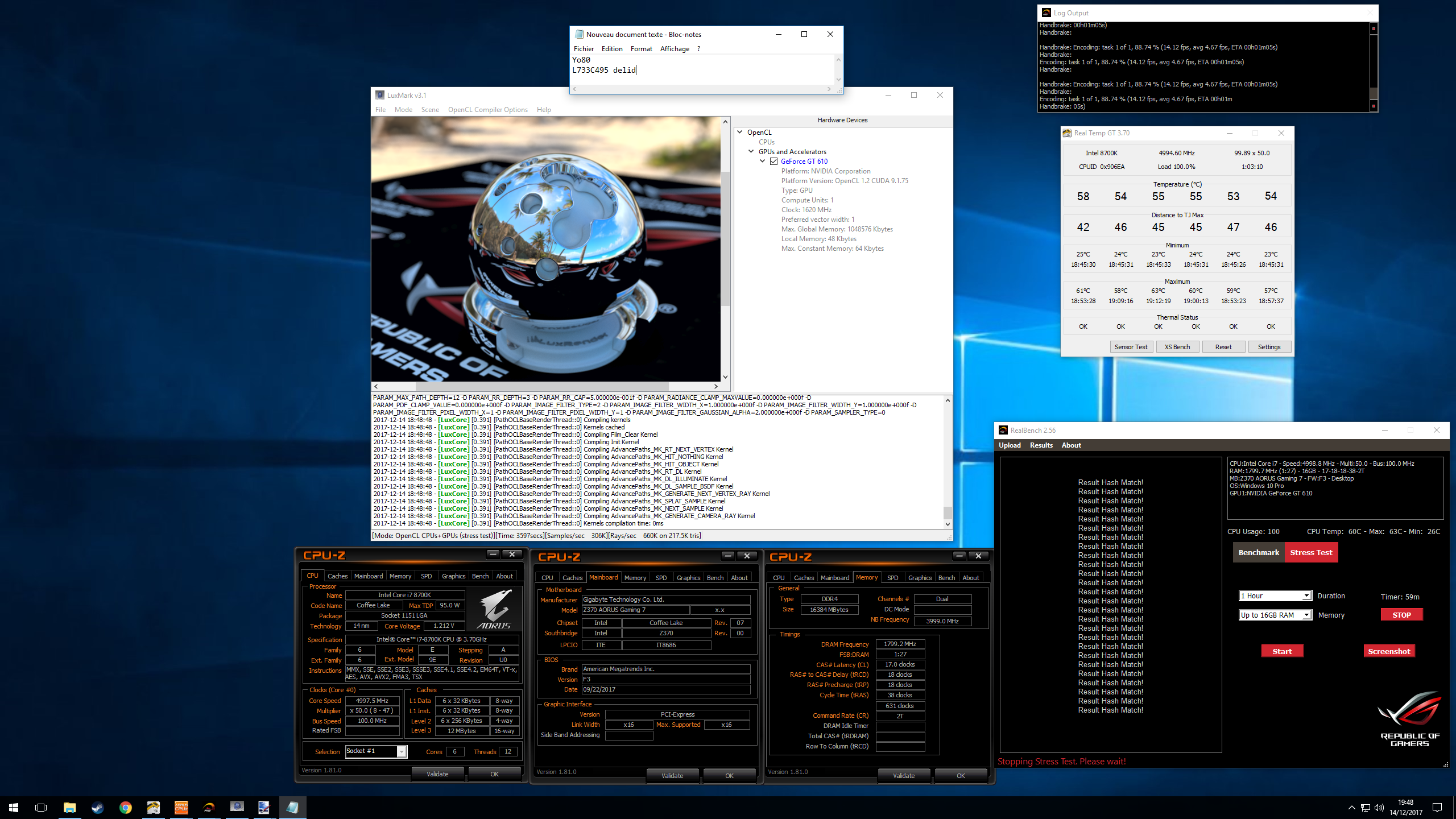 i7 8700k overclock results and settings - Page 131
